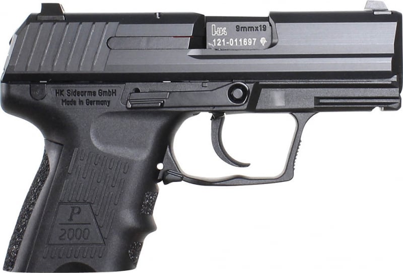 "HK 709302A5 P2000SK *CA MA Comp* V2 LEM DAO 9mm 3.26"" 10+1 Poly Grip Black"