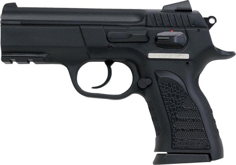 "EAA 999106 Witness P Compact DA/SA 9mm 3.6"" 14+1 Poly Grip/Frame Black"