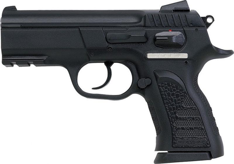 "EAA 999108 Witness P Compact DA/SA 40 S&W 3.6"" 12+1 Poly Grip/Frame Black"