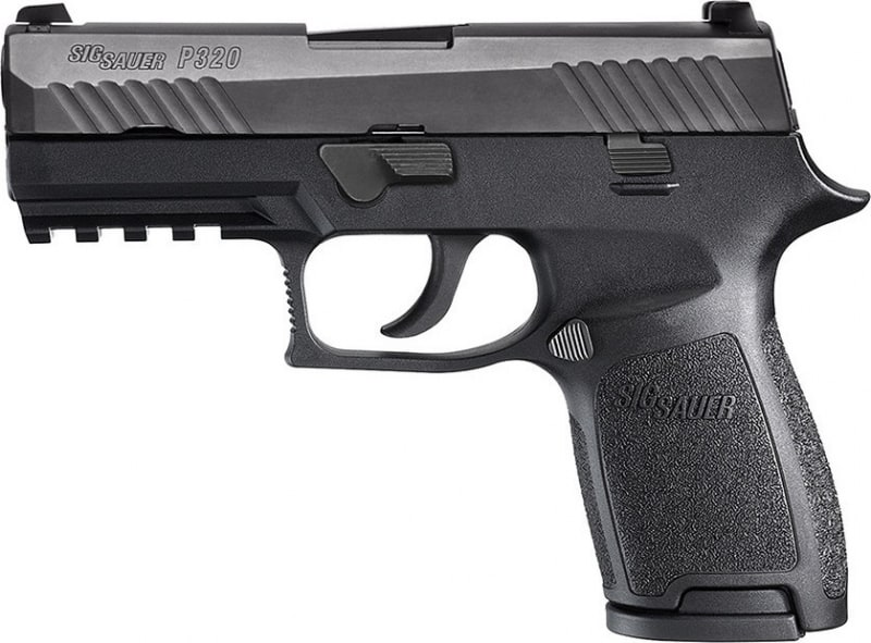 "Sig Sauer 320C9BSSMSMA P320 Compact *MA Compliant* Double 9mm Luger 3.9"" 10+1 Black Polymer Grip Black"