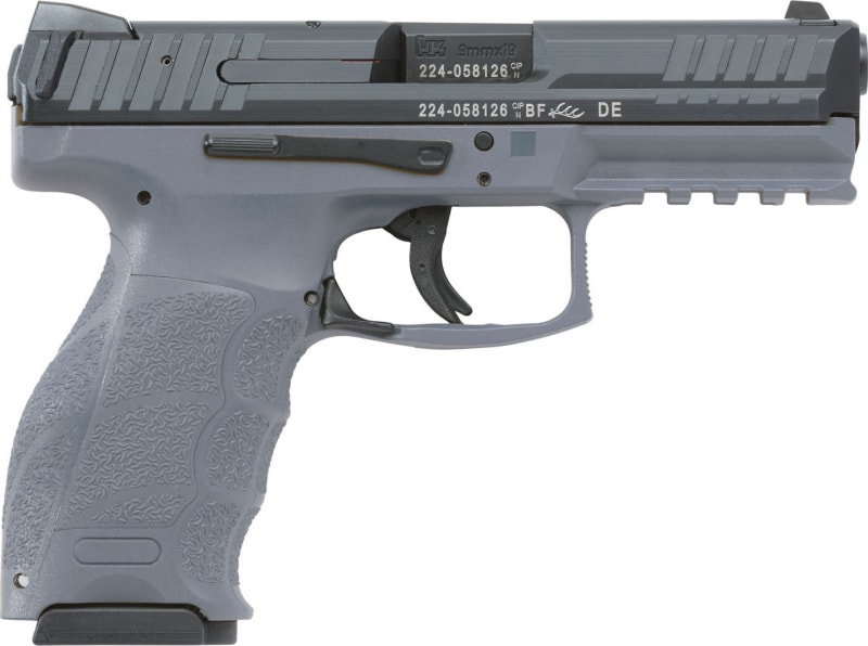 "HK 700009GYA5 VP9 Double 9mm Luger 4.09"" 10+1 2 Mags Gray Interchangeable Backstrap Grip Black"