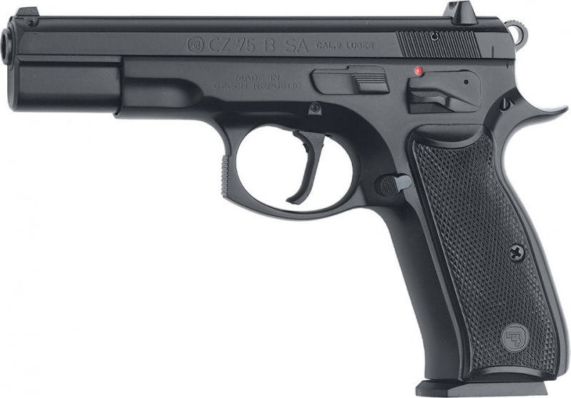 "CZ 01150 CZ 75 75-B Single 9mm Luger 4.6"" 10+1 Black Synthetic Grip Black"