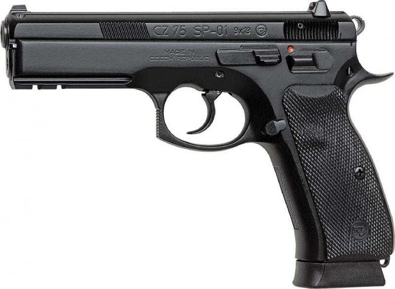 "CZ 91152 CZ-75 SP-01 DA/SA 9mm 4.7"" 18+1 w/Rail Rubber Grip Black Finish"