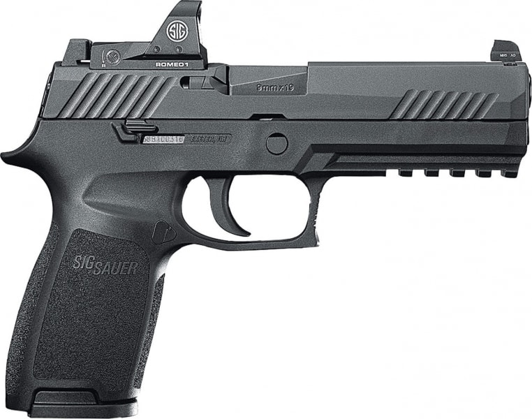 "Sig Sauer 320F9BSSRX P320 Double 9mm 4.7"" 17+1 Black Polymer Grip Black Nitride Stainless Steel"