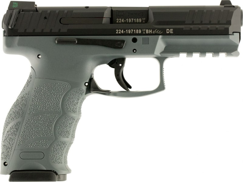"HK 700009GYLELA VP9 Double 9mm Luger 4.09"" 10+1 3 Mags NS Gray Interchangeable Backstrap Grip Black"