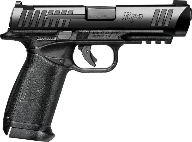 """Remington Firearms 96476 RP9 DA/SA 9mm 4.5"""" 10+1 Black Polymer Grip Black"""