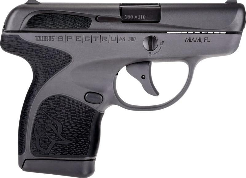 "Taurus 1007031201 Spectrum Double 380 ACP 2.8"" 6+1/7+1 Black Polymer Grip Black Stainless Steel"