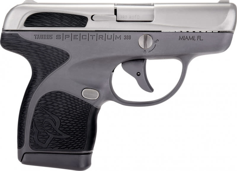 "Taurus 1007039201 Spectrum Double 380 ACP 2.8"" 6+1/7+1 Grey Frame Polymer Grip, Stainless"