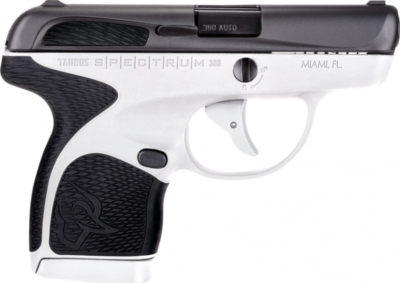 "Taurus 1007031301 Spectrum Double 380 ACP 2.8"" 6+1/7+1 Black Polymer Grip Black Stainless Steel"