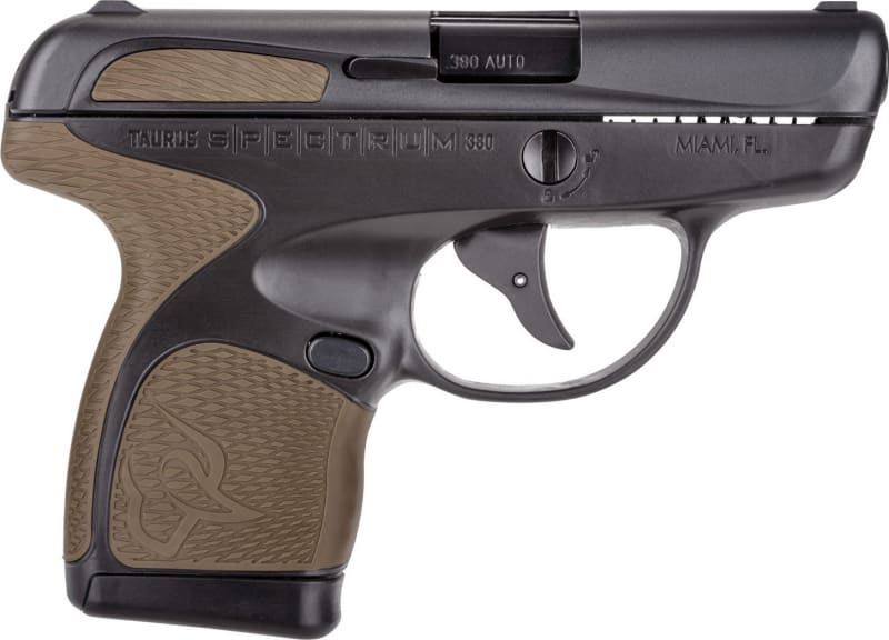 "Taurus 1007031119 Spectrum Double 380 ACP 2.8"" 6+1/7+1 Flat Dark Earth Polymer Grip Black Stainless Steel"