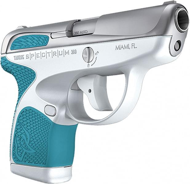 "Taurus 1007039320 Spectrum Double 380 ACP 2.8"" 6+1/7+1 Cyan Polymer Grip Stainless"
