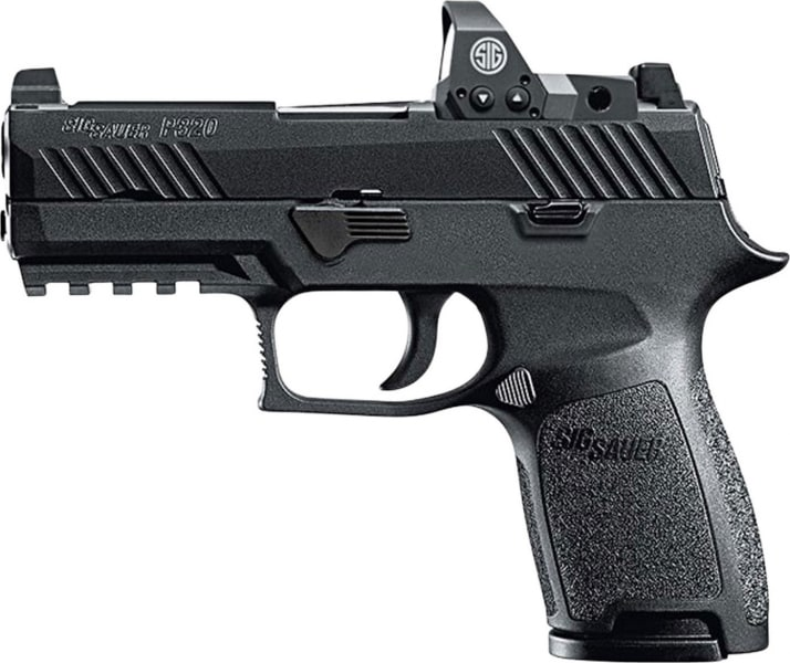 "Sig Sauer 320C9BSSRX P320 Compact RX Double 9mm Luger 3.9"" 15+1 Night Sights + ROMEO1 3 MOA Reflex Sight Black"
