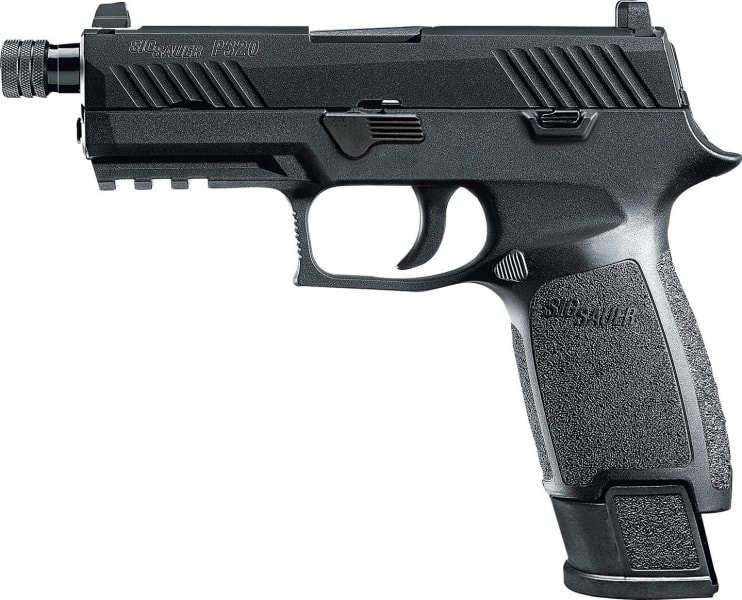 "Sig Sauer 320CAPTACOPS P320 TACOPS Carry Double 9mm Luger 4.6"" 21+1 NS Black Polymer Grip/Frame Black Nitron Stainless Steel"