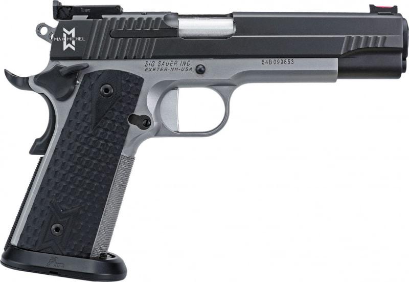 "Sig Sauer 19119MAXM 1911 Single 9mm Luger 5"" 9+1 Black G10 Grip Black Nitron"