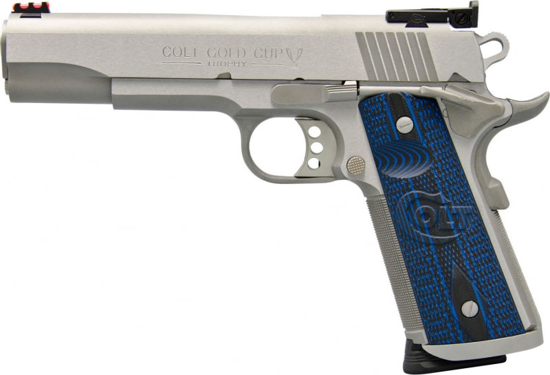 "Colt O5072XE 1911 Single 9mm 5"" 9+1 Blue G10 Grip Stainless Steel"