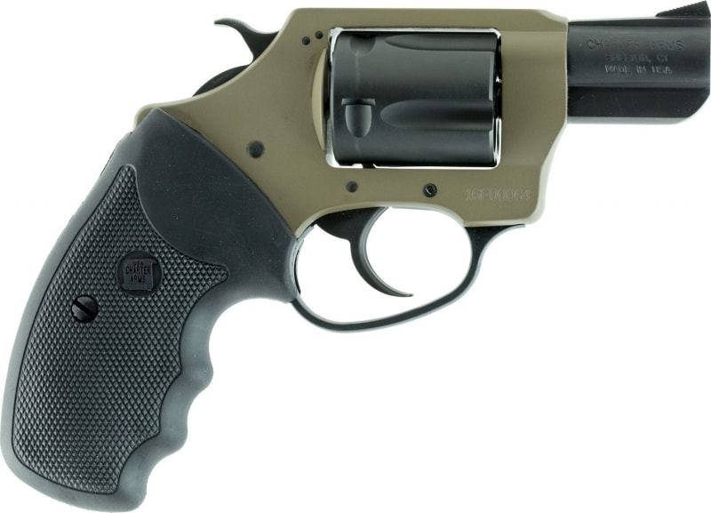 """Charter Arms 53863 Undercover Earthborn DA/SA 38 Special 2"""" 5 Black Rubber Stainless"""
