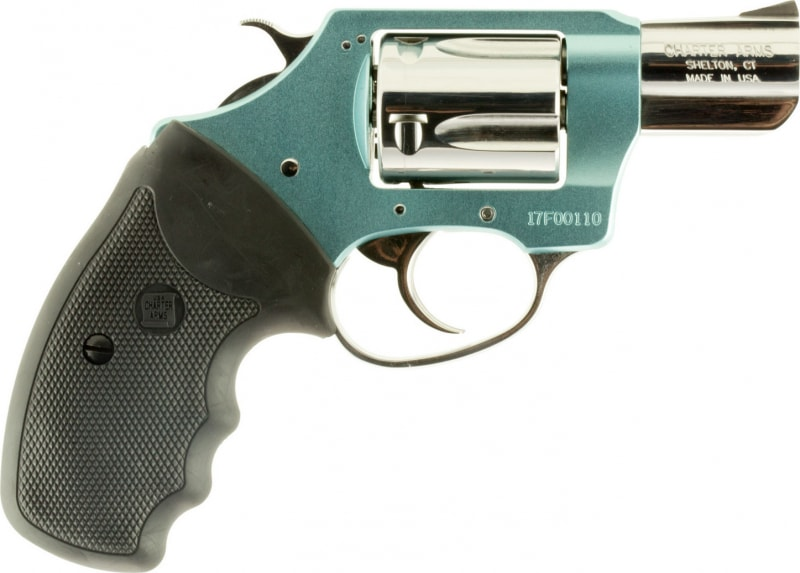 """Charter Arms 53879 Undercover Blue Diamond DA/SA 38 Special 2"""" 5 Black Rubber Stainless"""