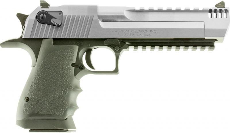 "Magnum Research DE44ASIMB Desert Eagle Single 44 Magnum 6"" 8+1 Black Polymer Grip Stainless Steel"
