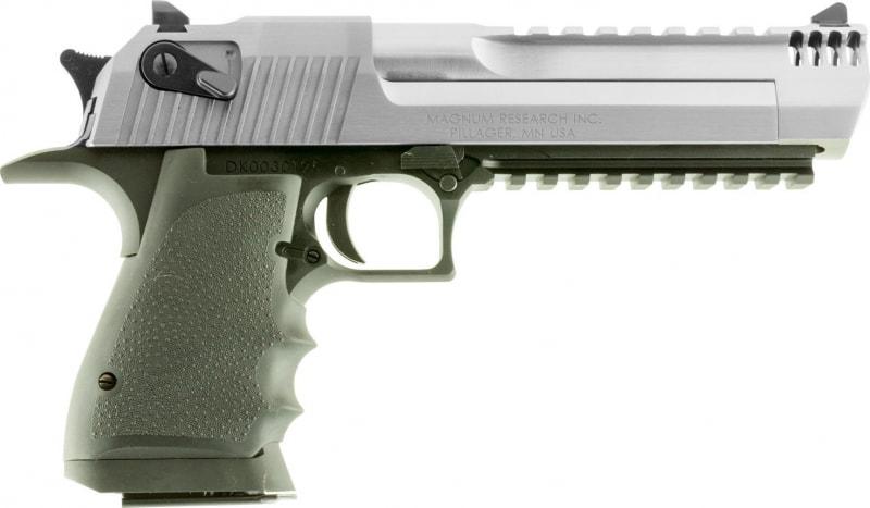 "Magnum Research DE357ASIMB Desert Eagle Single 357 Magnum 6"" 9+1 Black Polymer Grip Stainless Steel"