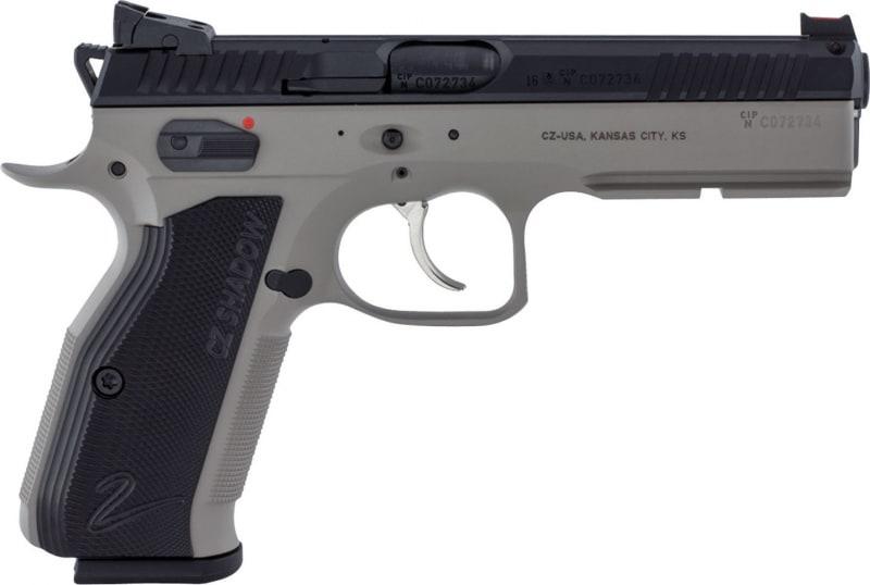 "CZ 91255 CZ 75 Shadow 2 DA/SA 9mm 4.8"" 17+1 FOF Black Aluminum Grip Gray Nitride Frame Black Slide"