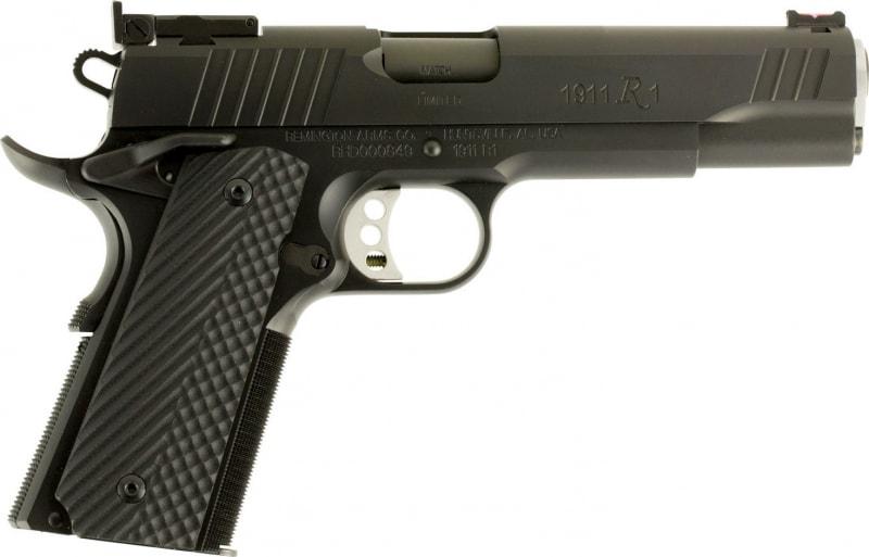 "Remington Firearms 96717 1911 R1 Single 40 S&W 5"" 9+1 Black G10 Grip Black Stainless Steel"