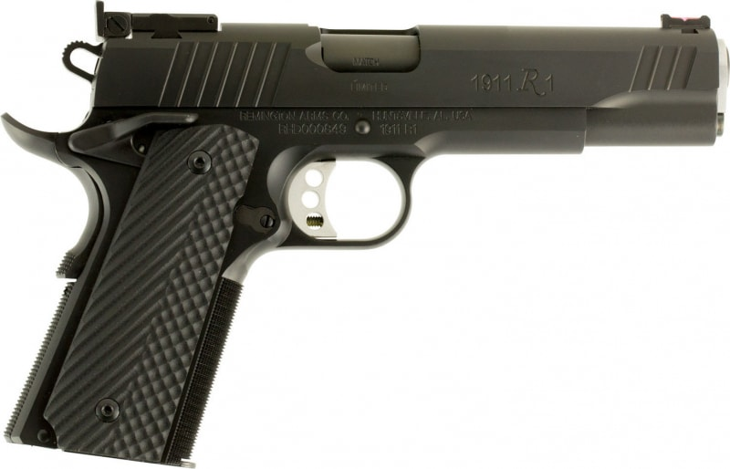 "Remington Firearms 96718 1911 R1 Single 9mm Luger 5"" 9+1 Black G10 Grip Black Stainless Steel"