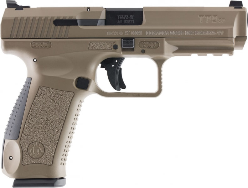 "Century HG4071DN TP9SF Special Forces Double 9mm Luger 4.46"" 10+1 Black Interchangeable Backstrap Desert Tan Polymer Frame Desert Tan Cerakote"