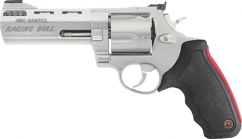 "Taurus 2454059M Mod 454 Raging Bull 454 Casull 5"" 5rd Adj Sight Rubber Grip SS"