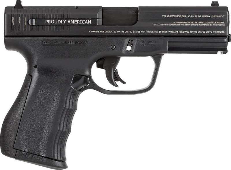 "FMK 9C1 G2 Compact 9mm 4"" Barrel 14+1 Rounds Engraved with Bill of Rights"