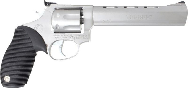 """Taurus 2170069 17 Tracker 17 HMR 6.5"""" 7rd Adj Sight Ribber Grip Overlay Matte SS"""