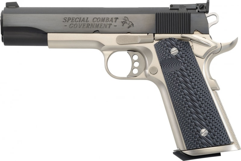 "Colt O1980CM 1911 Special Combat Government Single 45 ACP 5"" 8+1 Brown Polymer Grip Blued Carbon Steel"