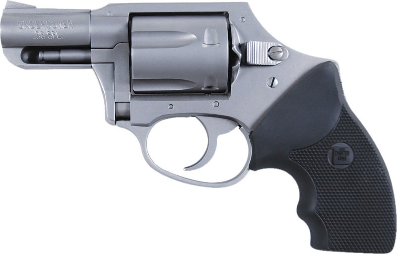 """Charter Arms 73811 Undercover Double Action Only Double 38 Special 2"""" 5 Black Rubber Stainless"""