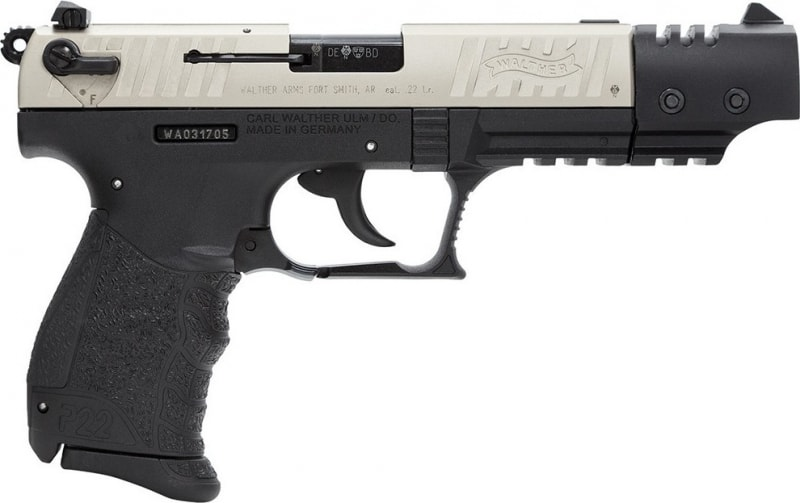 "Walther Arms P22 22LR Pistol, 5"" Nickel Target - 5120326"