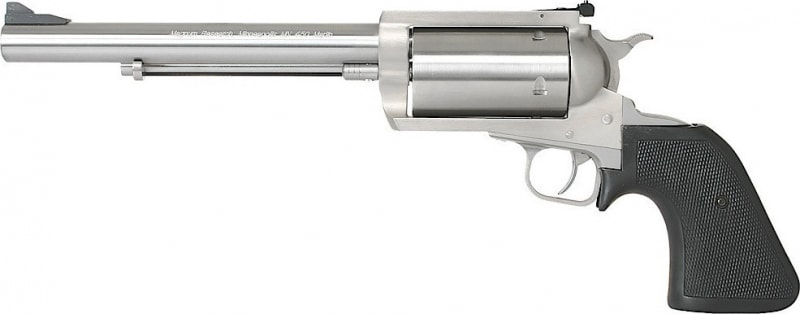 """Magnum Research BFR460SW7 BFR Long Cylinder SS Single 460 Smith & Wesson Magnum 7.5"""" 5 Black Rubber Stainless"""