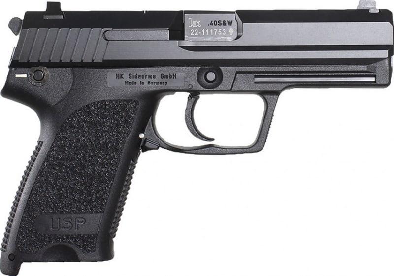 "H&K 704501A5 USP45 V1 *CA Compliant* DA/SA 45 ACP 4.41"" 3-Dot 10+1 2 Mags Black Polymer Grip/Frame Blued"