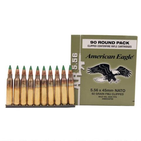 Federal XM Rifle Ammunition 5.56 NATO on Stripper Clips, 450 Round Case- XM855AF90