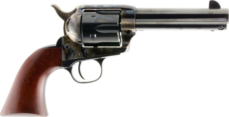 "Taylors&Co 701A 1873 Single Cattleman 45LC 5.5"" 6rd Walnut Grip Blued w/CH Frame"