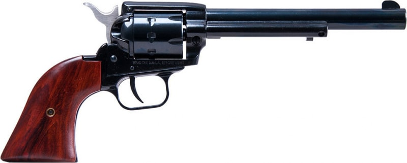 """Heritage Mfg RR22999MB6 Rough Rider Small Bore Single 22 LR/22 WMR 6.5"""" 9 Cocobolo Grip Blued"""