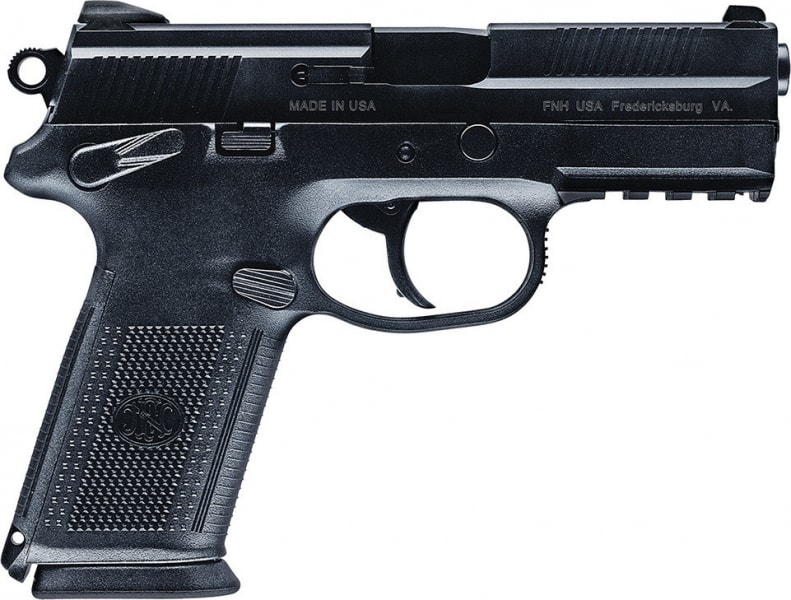 "FN 66836 FNX-9 DA/SA 9mm Luger 4"" 10+1 Black Interchangeable Backstrap Grip Black Stainless Steel"