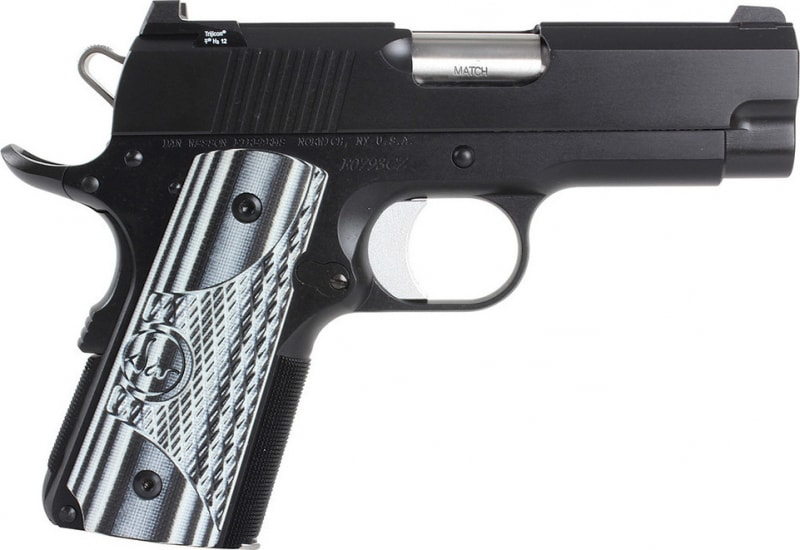 "Dan Wesson 01968 DW ECO 9mm 3.5"" 8+1 Black/Gray G10 Grip Black"