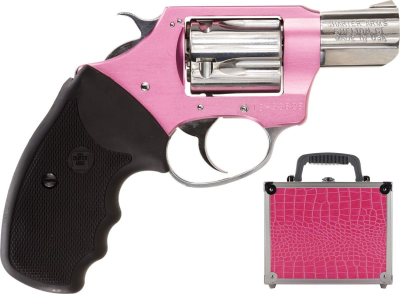 """Charter Arms 53839 Undercover Lite Chic Lady DA/SA 38 Special 2"""" 5 Black Rubber Stainless"""