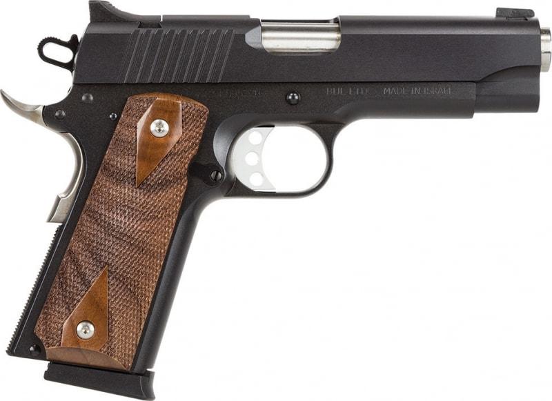 "MagResearch DE1911C Desert Eagle Cmpct 45 ACP 4.33"" 7+1 Dbl Diamond Wood Grip Black"