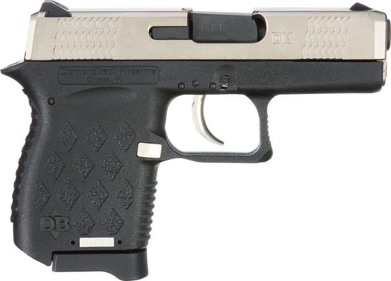 "Diamondback DB9EX Micro-Compact DAO 9mm 3"" 6+1 Black Poly Grip/Frame EXO Nkl Boron"
