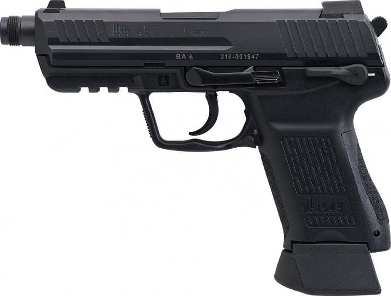 "HK 745031TA5 HK45CT Compact Tactical 45 ACP DA/SA 10+1 4.57"" Black Grip"