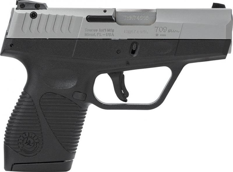 Taurus Model 709FS Slim 9mm Semi-Auto Pistol, 3.2 Inch Barrel, Stainless Finish 7 Round W / 1 Magazine
