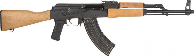 Romanian WASR-10 AK-47 Rifle w/ Military Style Wood Stock and Forearm
