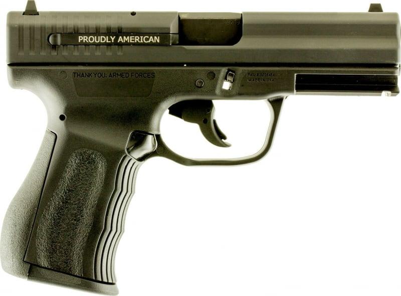 """FMK G9C1G2CAMA 9C1 G2 Double 9mmLuger 4"""" 10+1 Black Polymer Grip/Frame Black Carbon Steel"""