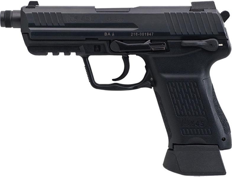 "HK 745037TA5 HK45CT Comp Tactical V7 Double LEM 45 ACP NMS 4.57"" 10+1 3Dot NS Black Synthetic Grip Black"