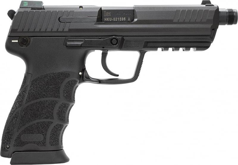 """HK 745001TA5 HK45T Tactical 45 ACP DA/SA NS 10rd 5.2"""" Poly Grip/Frame Black"""
