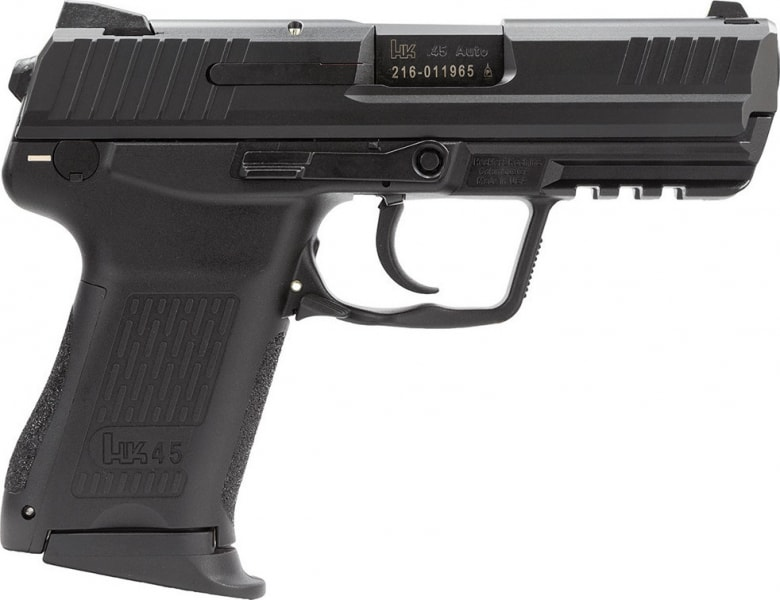 "HK 745037A5 HK45C 45 Colt No Manual Safety 3.9"" 8+1 Synthetic Grips Black Finish"